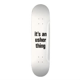 its an usher thing custom skate board