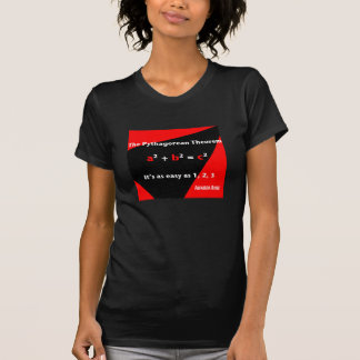 It's As Easy As 1, 2, 3 Red Womens T-shirt