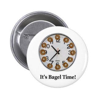 It's Bagel Time! Pinback Button
