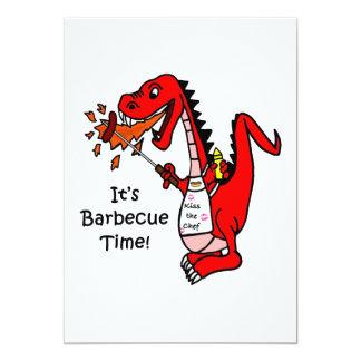 It's Barbecue Time! Barbecue Dragon 13 Cm X 18 Cm Invitation Card