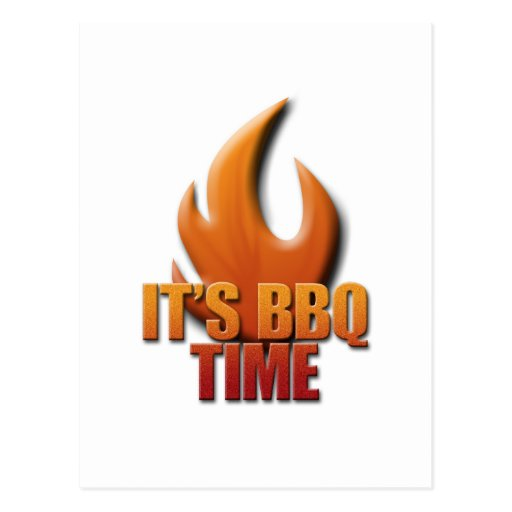 It's BBQ Time Post Cards