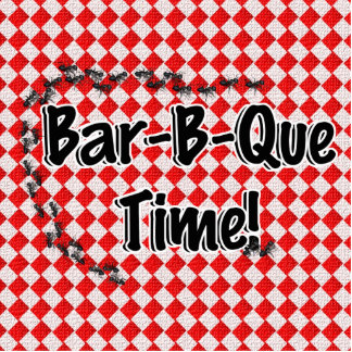 It's BBQ Time! Red Checkered Table Cloth w/Ants Acrylic Cut Out
