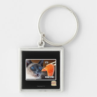 It's Beautiful! Silver-Colored Square Key Ring