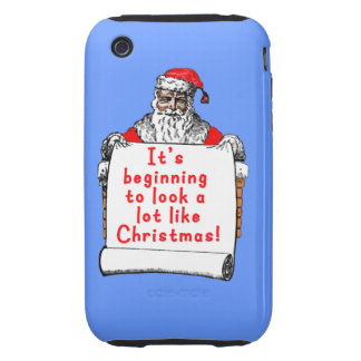It's Beginning to Look a lot like Christmas Tough iPhone 3 Cases