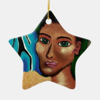It's Behind You! Ceramic Star Decoration