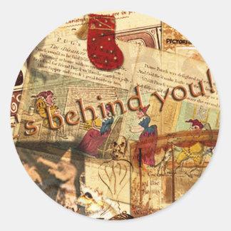 It's Behind You! Round Sticker