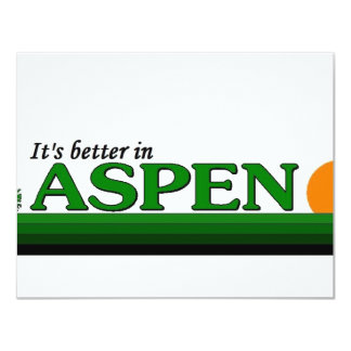 Its Better in Aspen, Colorado Custom Invitations