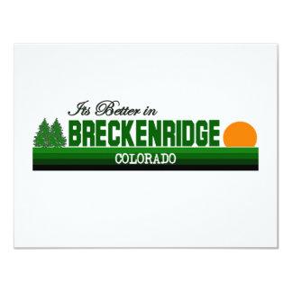 Its Better in Breckenridge, Colorado Custom Invites