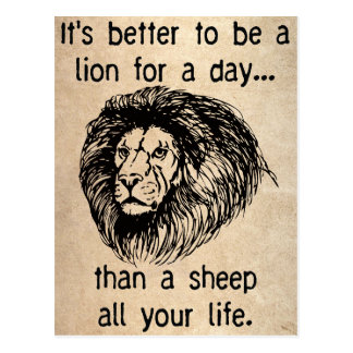It's better to be a lion for a day....Postcard Postcard