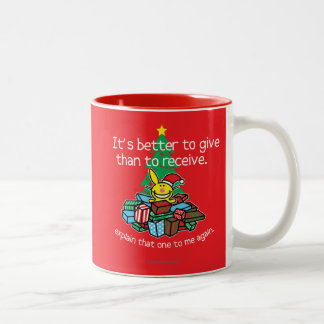 It's Better To Give Two-Tone Mug