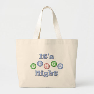 It's Bingo Night Large Tote Bag