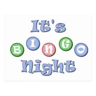 It's Bingo Night Postcards