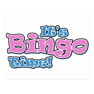 It's Bingo TIme Postcard