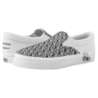 It's Black and White Slip On Shoes
