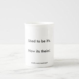 It's Bone China Mug