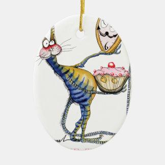 it's cake time, tony fernandes ceramic oval decoration