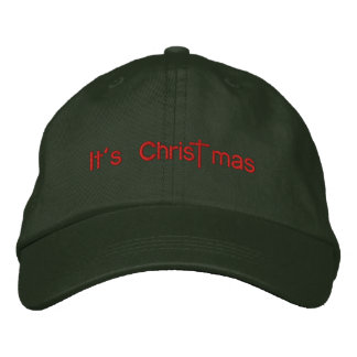It's Christ mas Embroidered Hat