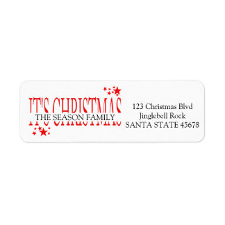 It's Christmas stars holiday Label