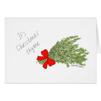 It's Christmas Thyme! Holiday Produce Pun Card