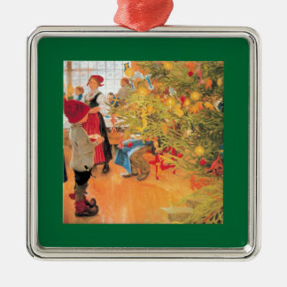 It's Christmas Time Again - Boy Looking at Tree Christmas Ornament