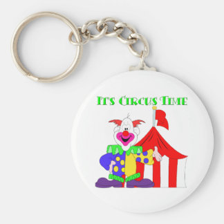 Its Circus Time Basic Round Button Key Ring
