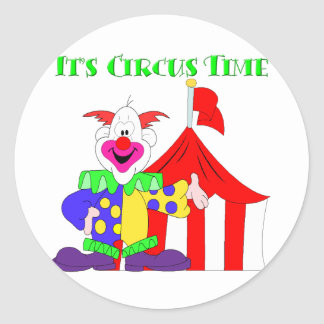 Its Circus Time Classic Round Sticker