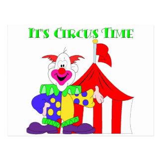 Its Circus Time Postcard