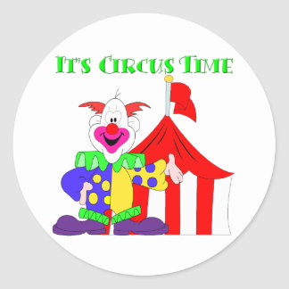 Its Circus Time Round Sticker