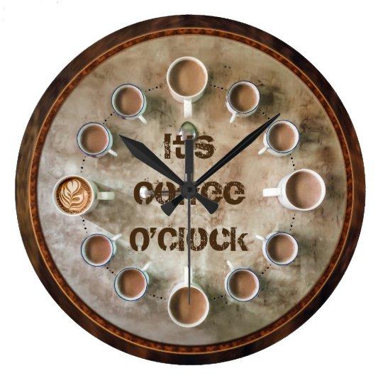 It's Coffee OClock Fun Coffee Lovers Kitchen Clock