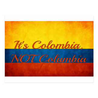 """""""It's Colombia, Not Columbia"""" Postcard"""