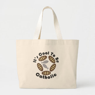 It's cool to be catholic tote bags
