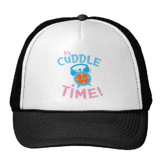 It's cuddle time with cute clock cap