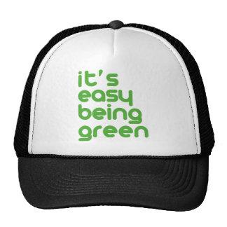 It's easy being green trucker hat