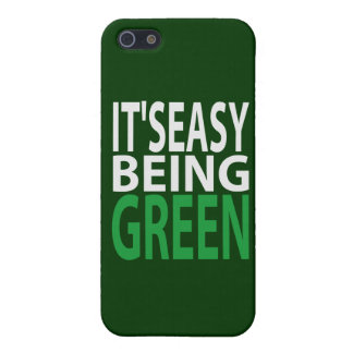 IT'S EASY BEING GREEN iPhone 5/5S CASES