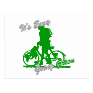 It's Easy Going Green Bicycle 2 Postcard