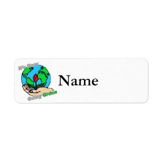 It's Easy Going Green Planet Return Address Label