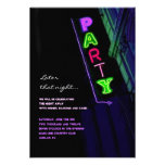 IT'S ELECTRIC!  NEON SIGN Sweet Sixteen Reply Card Personalized Invitations