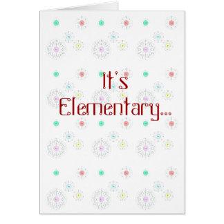 It's Elementary - I Luv U Card