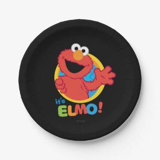 It's Elmo Paper Plate