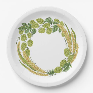 It's Finally Time! Oktoberfest Party Paper Plates 9 Inch Paper Plate