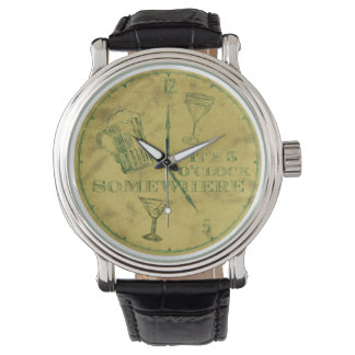 It's Five o clock somewhere Vintage Watch