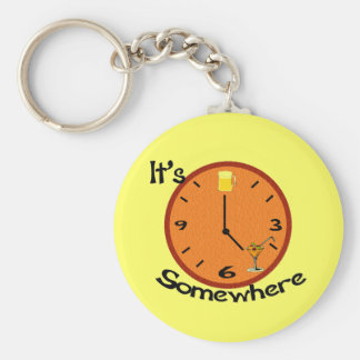 Its Five O'clock Somewhere Key Ring