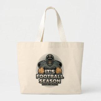 Its Football Season Leave Me Alone Jumbo Tote Bag