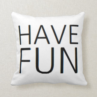 it's fun to have lots of fun throw pillow