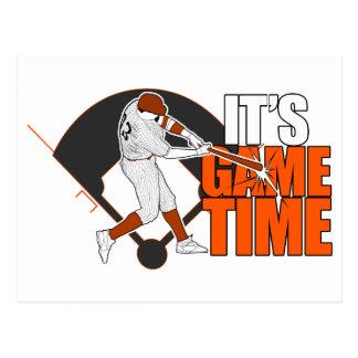 It's Game Time - Baseball (Orange) Postcard