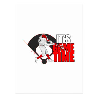 It's Game Time - Baseball (Red) Postcard
