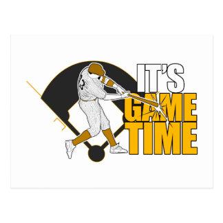 It's Game Time - Baseball (Yellow) Postcard