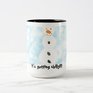 It's getting chilly!! Two-Tone coffee mug
