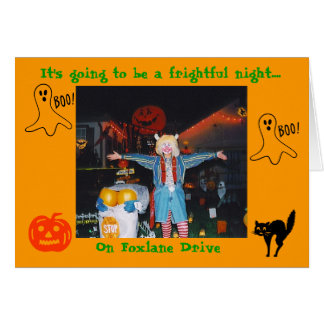 It's going to be a frightful night....,... note card