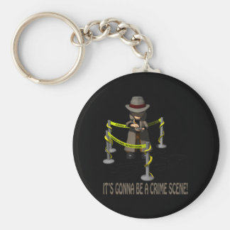 It's Gonna Be A Crime Scene Basic Round Button Key Ring
